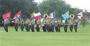 Marine Corps Junior ROTC (MCJROTC) cadets on parade at MMA.