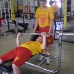 physical fitness is emphasized at military school