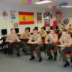 Boys in class at Military School