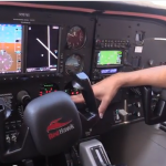 The glass-cockpit of a Redhawk Cessna 172.