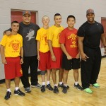 Keith Davis with MMA cadets
