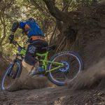 Mountain bike on a dirt path